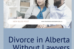 a 40s black couple discussing divorce in alberta